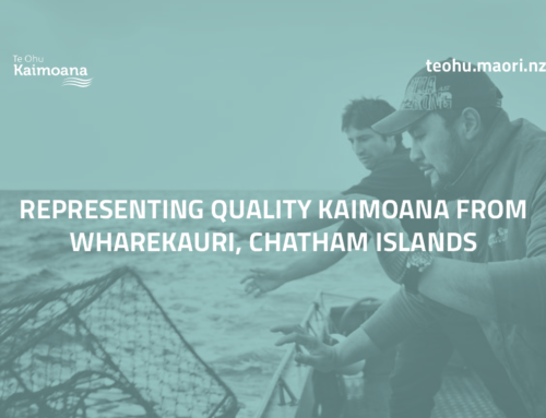 Representing quality kaimoana from Wharekauri, Chatham Islands